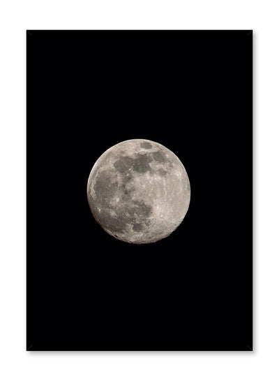 Celestial photography poster by Opposite Wall with bright moon Luna