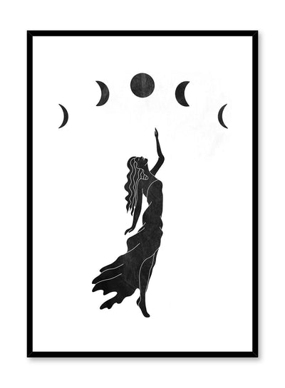 Celestial illustration by Opposite Wall with Selene goddess of moons