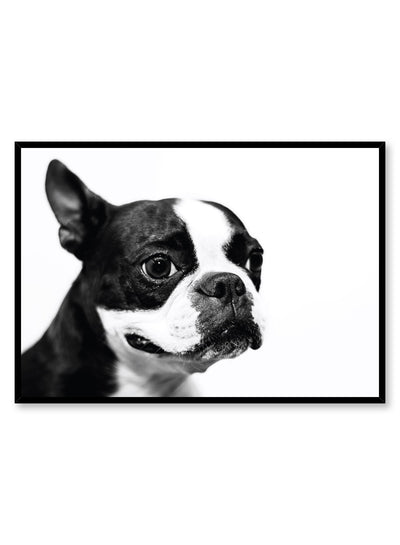 Kids nursery poster by Opposite Wall with black and white dog photography