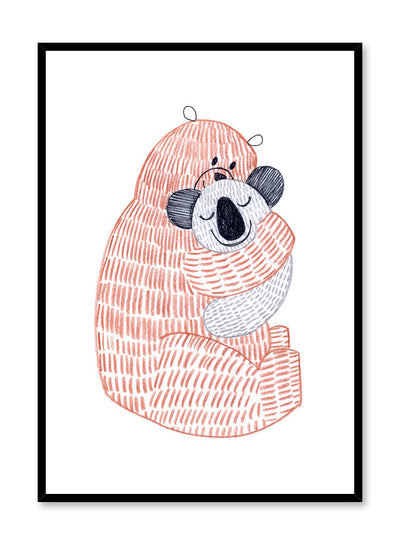 Kids nursery poster by Opposite Wall with Bear Hug illustration