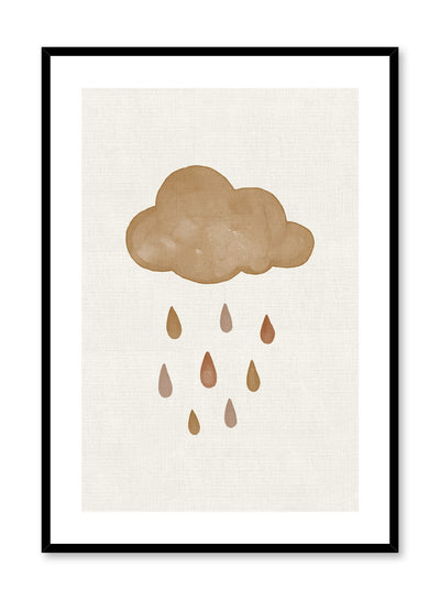 Kids nursery poster by Opposite Wall with watercolour cloud