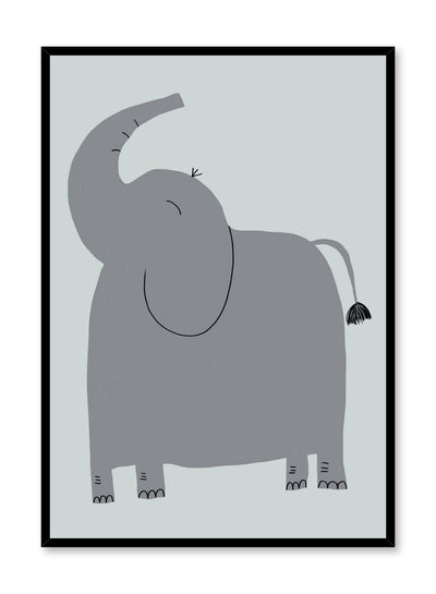 Kids nursery illustration poster by Opposite Wall with Elephant