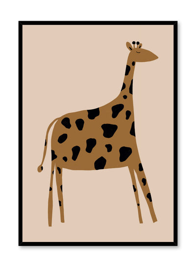 Kids nursery illustration poster by Opposite Wall with sleepy giraffe