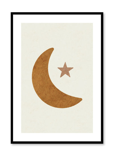 Kids nursery poster by Opposite Wall with watercolour moon