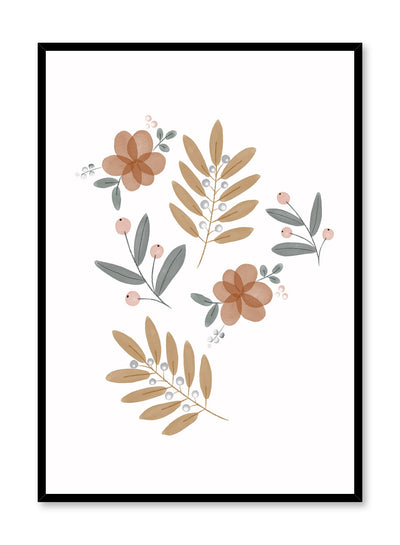 Kids nursery poster by Opposite Wall with fall foliage watercolour leaves