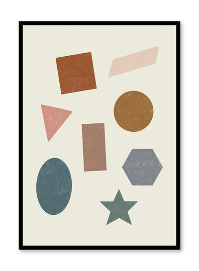 Kids nursery poster by Opposite Wall with drawings of shapes