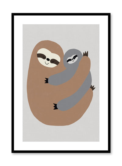 Kids nursery illustration poster by Opposite Wall with sloth hug