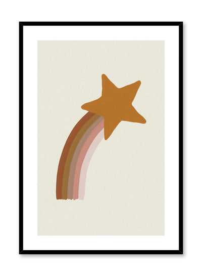 Kids nursery painting poster by Opposite Wall with shooting star
