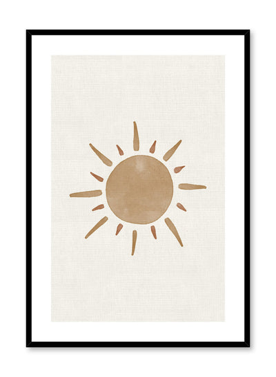 Kids nursery poster by Opposite Wall with watercolour sun