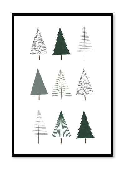 Kids nursery poster by Opposite Wall with Evergreen trees illustration