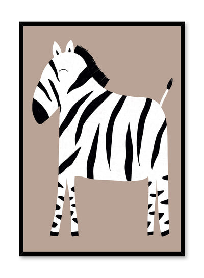 Kids nursery illustration poster by Opposite Wall with Zebra