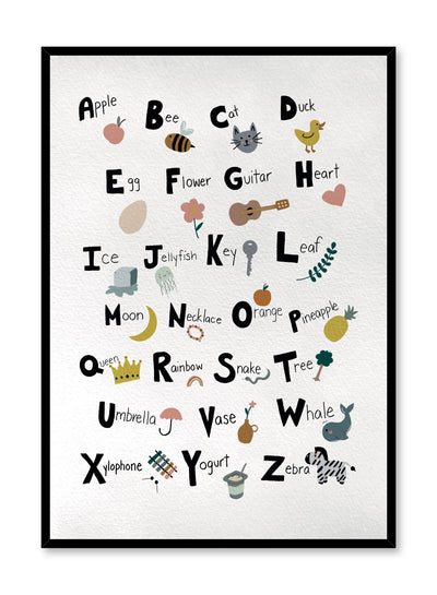 Kids nursery poster by Opposite Wall with Alphabet illustrations