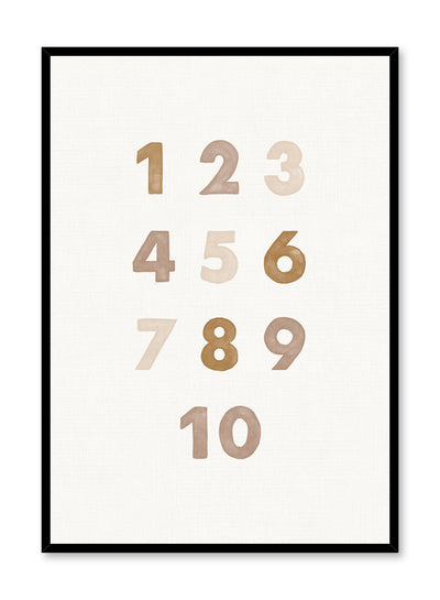 Kids nursery poster by Opposite Wall with numbers in beige