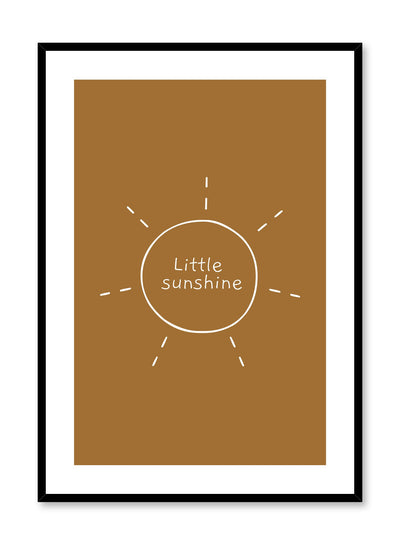 Kids nursery poster by Opposite Wall with typography quote Little Sunshine