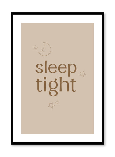 Kids nursery typography quote poster by Opposite Wall with Sleep Tight