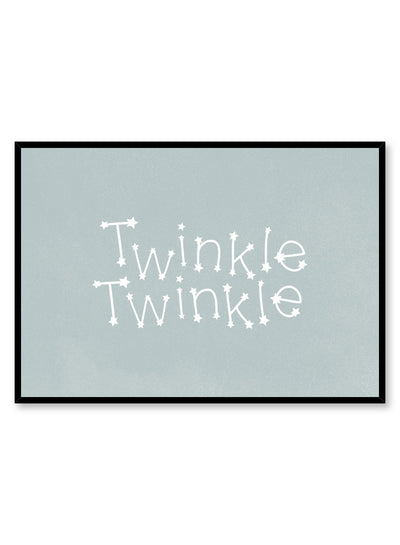Kids nursery typography poster by Opposite Wall with Twinkle Twinkle quote