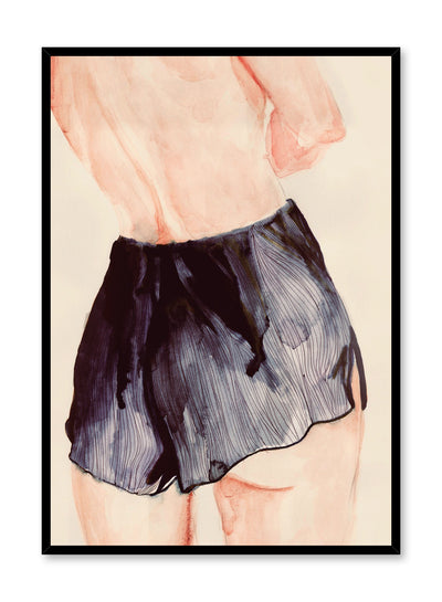 Fashion illustration poster by Opposite Wall with woman in shorts