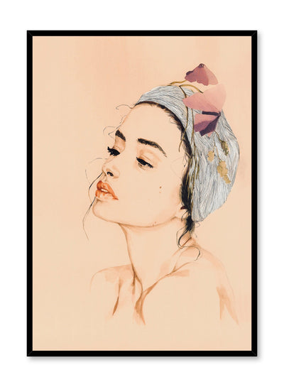 Fashion illustration poster by Opposite Wall with face of beautiful woman