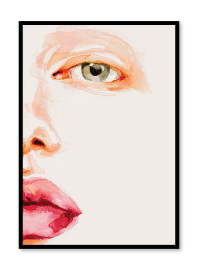 Fashion illustration poster by Opposite Wall with close up of face