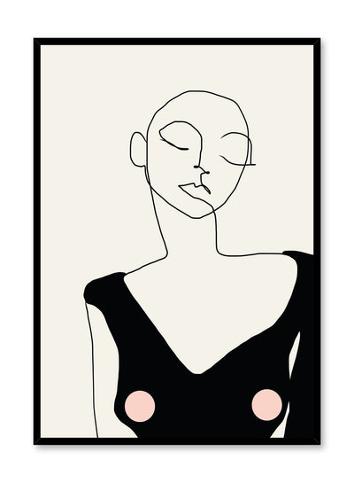 Fashion illustration poster by Opposite Wall with abstract woman line art
