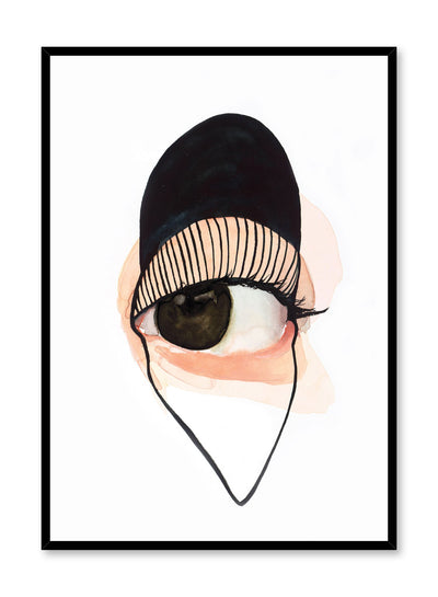 Fashion illustration poster by Opposite Wall with close up of eye
