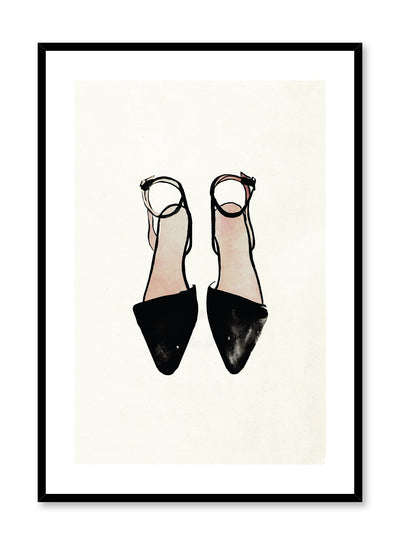 Fashion illustration poster by Opposite Wall with Ankle Straps shoe drawing