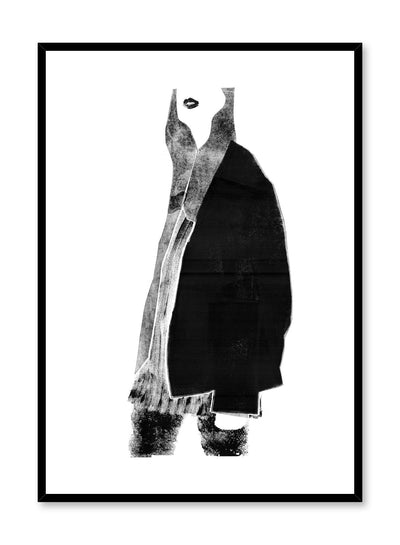 Fashion illustration poster by Opposite Wall with woman in warm layers of clothing