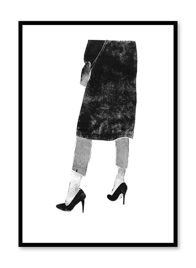 Fashion illustration poster by Opposite Wall with woman in high heels