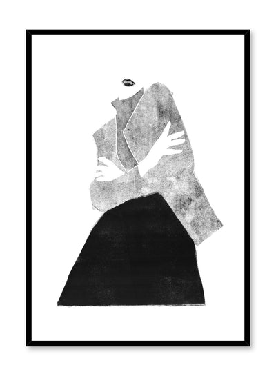 Fashion illustration poster by Opposite Wall with woman striking a pose