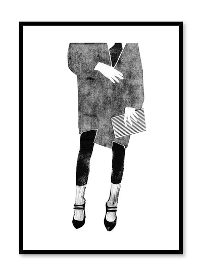 Fashion illustration poster by Opposite Wall with woman in fashionable outfit