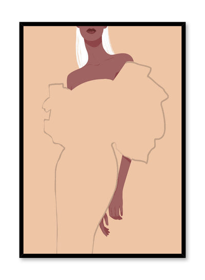 Fashion illustration poster by Opposite Wall with Avant-Garde dress drawing