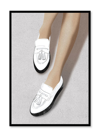Fashion illustration poster by Opposite Wall with tassle loafer shoes