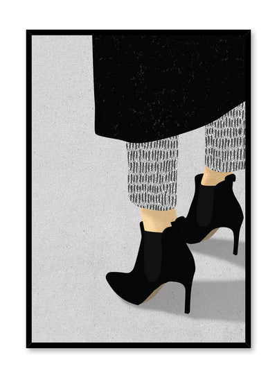 Fashion illustration poster by Opposite Wall with high heel booties