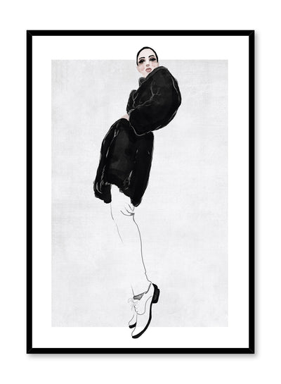 Fashion illustration poster by Opposite Wall with woman striking pose