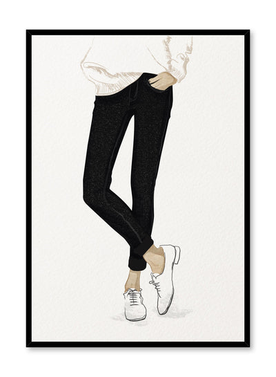 Fashion illustration poster by Opposite Wall with cool woman