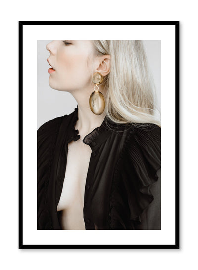 Fashion photography poster by Opposite Wall with woman wearing gold earring