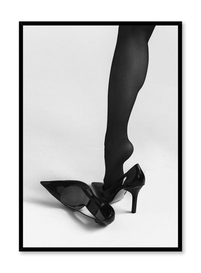 Black and white fashion photography poster by Opposite Wall with woman in high heels