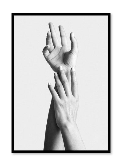 Black and white fashion photography poster by Opposite Wall with hands reaching