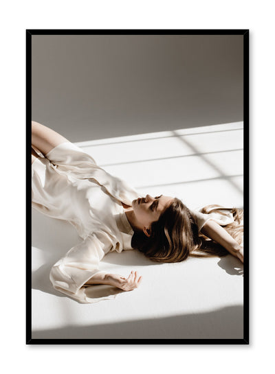 Fashion photography poster by Opposite Wall with woman laying in sunshine