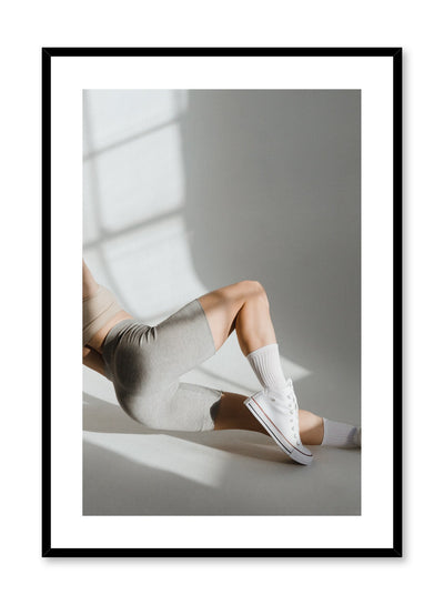 Fashion photography poster by Opposite Wall with woman in sports clothing