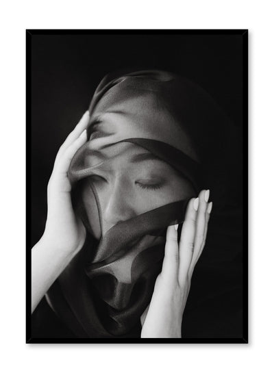 Black and white fashion photography poster by Opposite Wall with woman wearing veil
