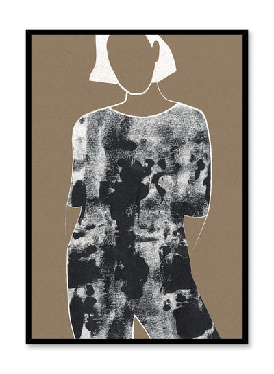 Fashion illustration poster by Opposite Wall with woman in patterned jumpsuit