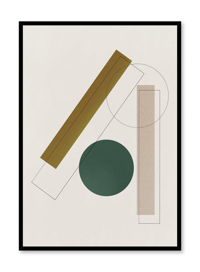 Modern abstract poster by Opposite Wall with mid-century modern geometric shapes by Toffie Affichiste