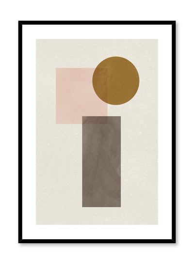 Modern abstract illustration poster by Opposite Wall with pastel coloured overlapping shapes by Toffie Affichiste