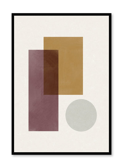 Modern abstract illustration poster by Opposite Wall with overlapping shapes by Toffie Affichiste