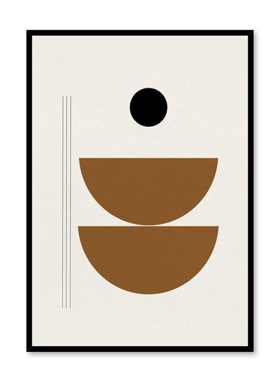 Modern abstract poster by Opposite Wall with stacked bowl shapes by Toffie Affichiste