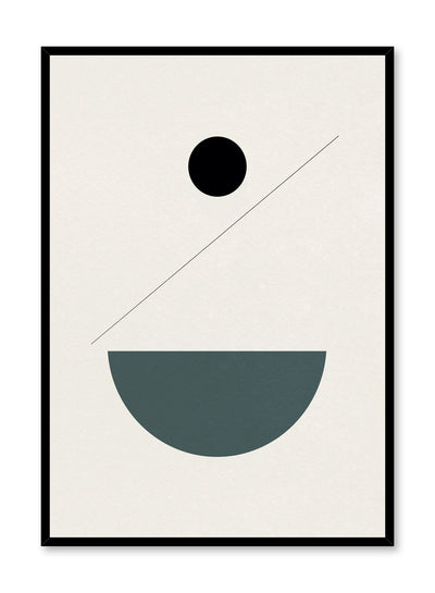 Modern abstract poster by Opposite Wall with minimalist shapes in balance by Toffie Affichiste