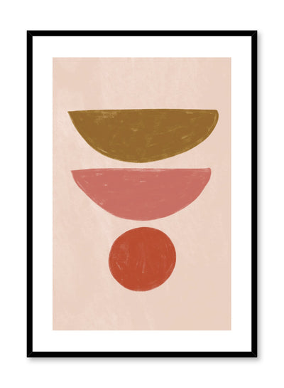 Modern abstract illustration poster by Opposite Wall with balancing shapes by Toffie Affichiste