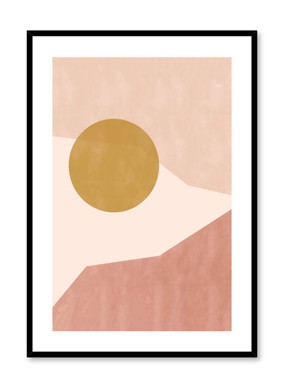 Modern abstract illustration poster by Opposite Wall with angled shapes in terracotta beige by Toffie Affichiste