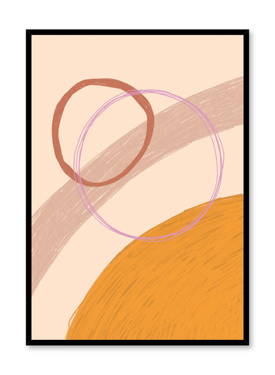 Modern abstract illustration poster by Opposite Wall with sketched circle shapes overlapping by Toffie Affichiste